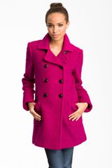 DKNY Double Breasted Coat - Lyst