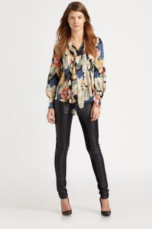 Elizabeth And James Celeste Silk Blouse - Lyst
