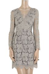 Erdem Vavinia Lace Dress in Gray - Lyst