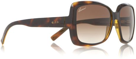 Gucci Unisex Sunglasses in Brown for Men - Lyst