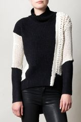 Helmut Lang Colour Block Sweater - Lyst