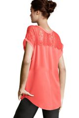 H&m Blouse in Red (coral) - Lyst