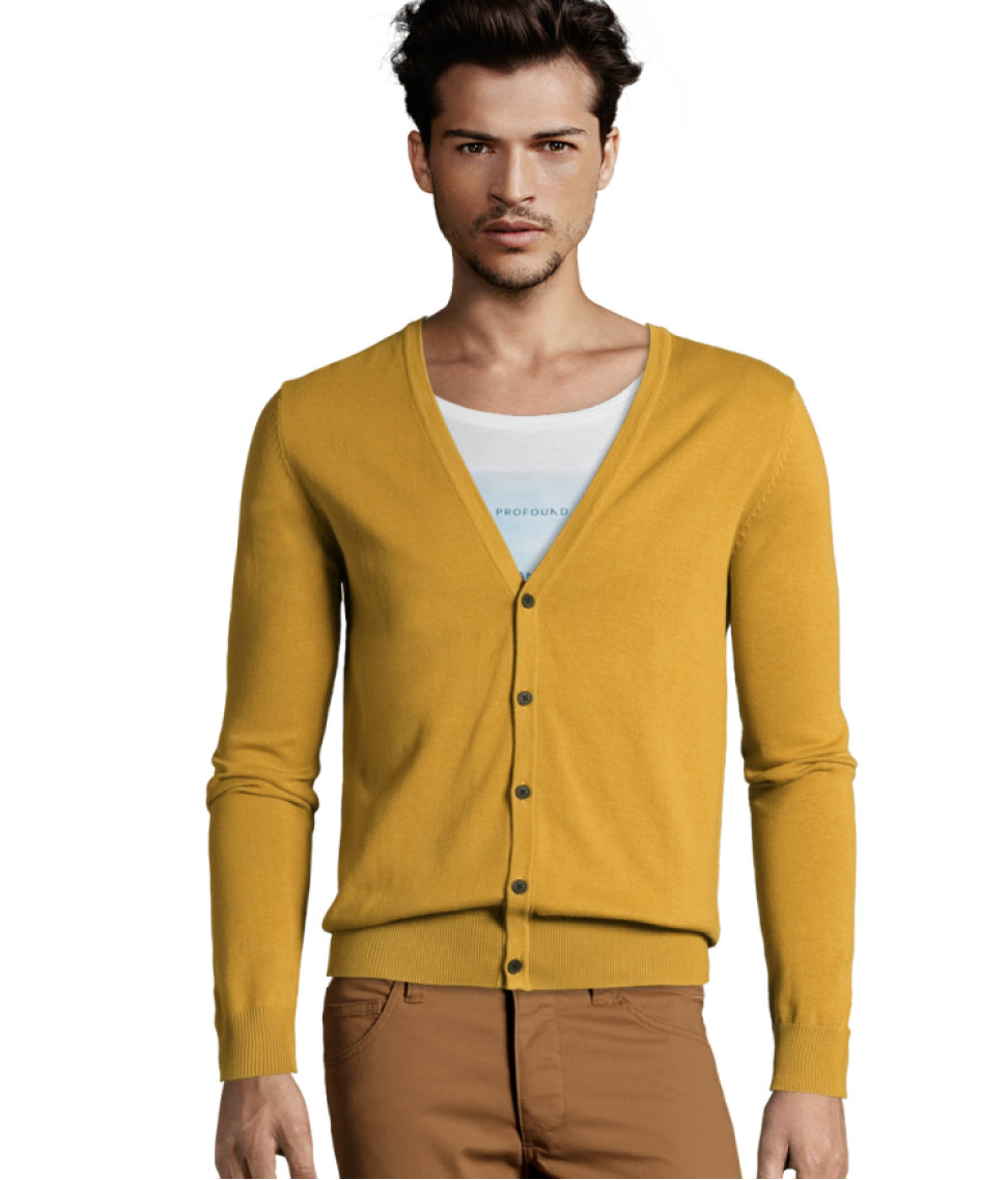 H&m Cardigan in Yellow for Men | Lyst