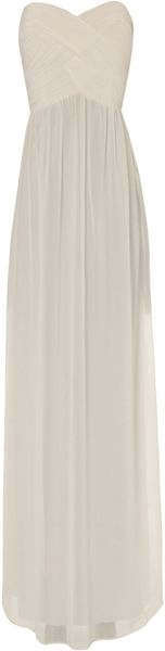 Jane Norman Pleat Bodice Maxi - Lyst