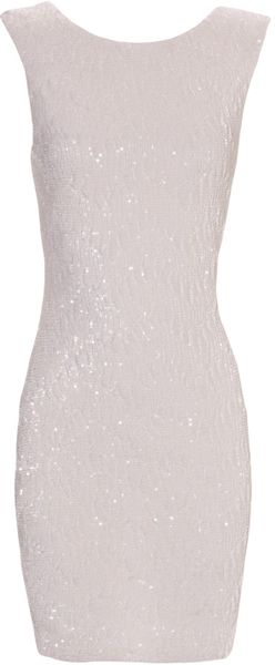 Jane Norman White Sequin Dress - Lyst