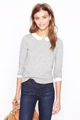J.Crew Peter Pan Collar Tee - Lyst