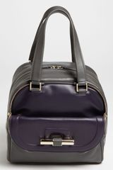 Jimmy Choo Justine Small Bicolor Leather Satchel - Lyst