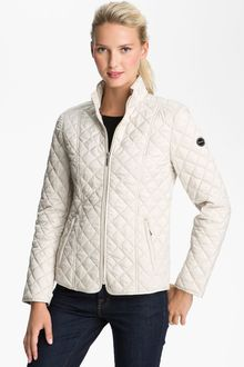 Laundry By Shelli Segal Quilted Zip Jacket - Lyst