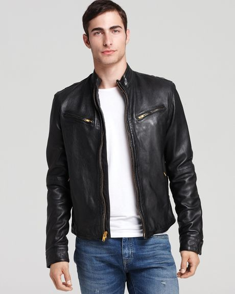 and grey suit pants or dress it down with a simple V-neck and jeans, the leather jacket has become the primary focal point for my outfits and says a lot