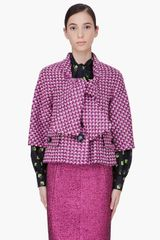 Marc Jacobs Pink Popcorn Tweed Jacket - Lyst