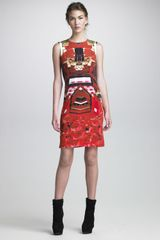 Mary Katrantzou Formfitting Printed Dress - Lyst