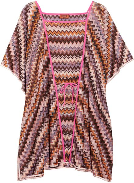 Missoni Crochetknit Kaftan in Multicolor (multicolored) - Lyst