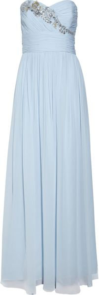 Notte By Marchesa Embellished Silk Chiffon Gown - Lyst