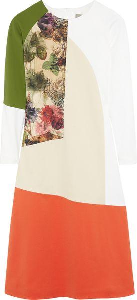Preen By Thornton Bregazzi Rose Colorblock Cottonblend Dress in Pink (rose)