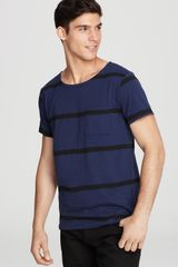 Saturdays Surf Nyc Collett Yarn Dye Stripe Tee - Lyst