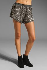 Tylie Sequin Riding Shorts - Lyst