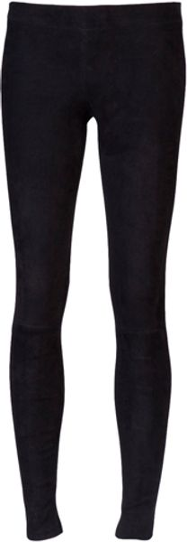Vince Leather Leggings in Black - Lyst