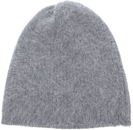 Acne Ribbed Knit Beanie in Gray (grey) - Lyst