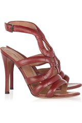 Alaïa Leather Sandals - Lyst