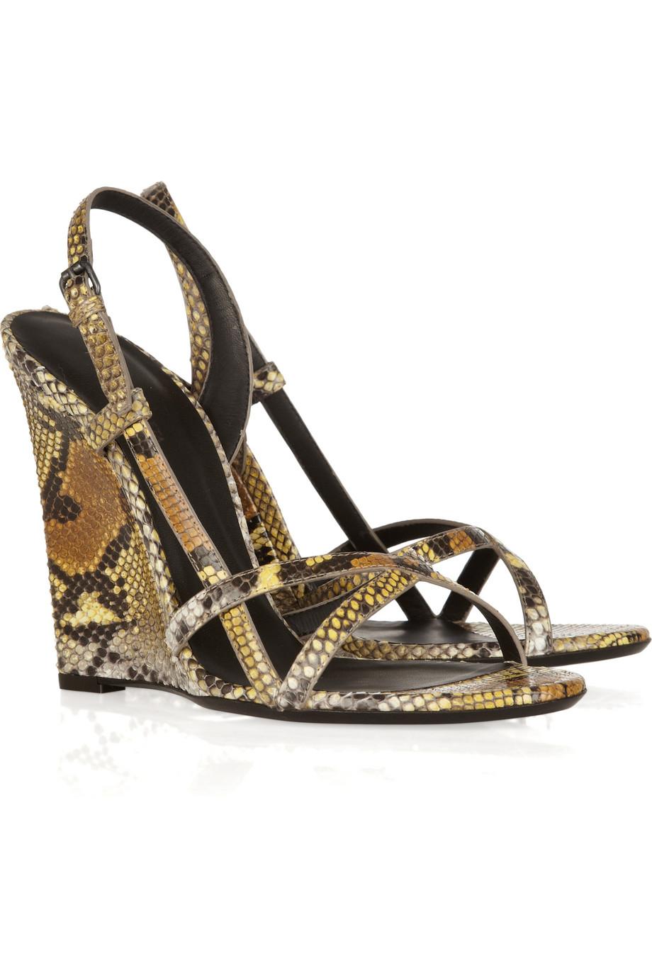 release dates sale online Bottega Veneta Canvas Platform Wedge Sandals free shipping big discount discount shopping online zjr9zd56VN