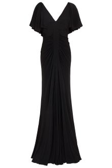 Elie Saab Jersey Dress Cap Sleeves Dress - Lyst