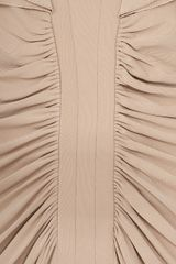 Elie Saab Jersey Dress Cap Sleeves Dress in Beige - Lyst