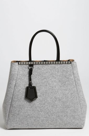 Fendi 2jours Large Felted Wool Shopper - Lyst