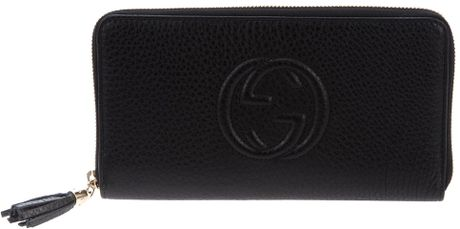 Gucci Zipped Purse in Black - Lyst