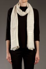 Gucci Fringe Scarf in Beige (cream) - Lyst