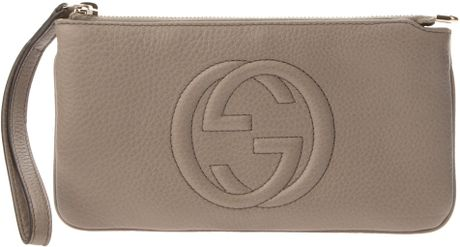Gucci Zip Up Purse in Gray (grey) - Lyst