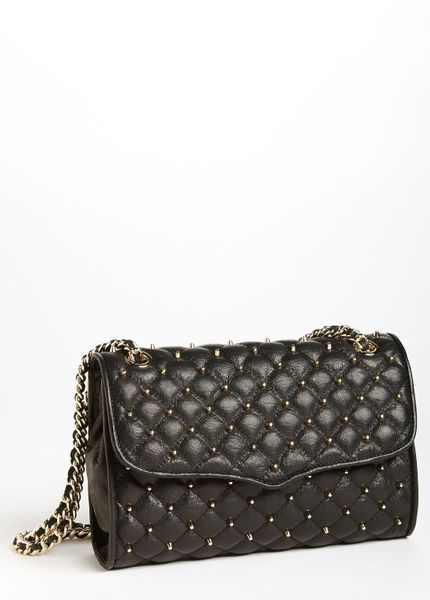 Marc Jacobs Quilting Ginger Leather Shoulder Bag in Black (black/ silver)