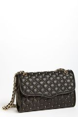 Marc Jacobs Quilting Ginger Leather Shoulder Bag in Black (black/ silver) - Lyst
