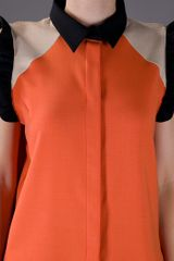 Marni Contrast Blouse in Orange - Lyst