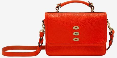 Mulberry Bryn Shiny Grain Flame in Red - Lyst