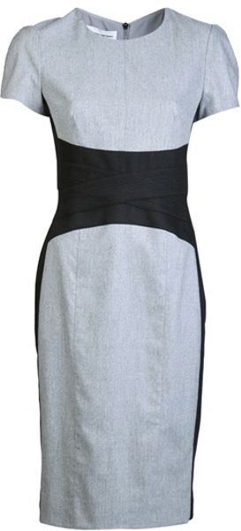 Narciso Rodriguez Cumberbun Dress in Gray (grey) - Lyst