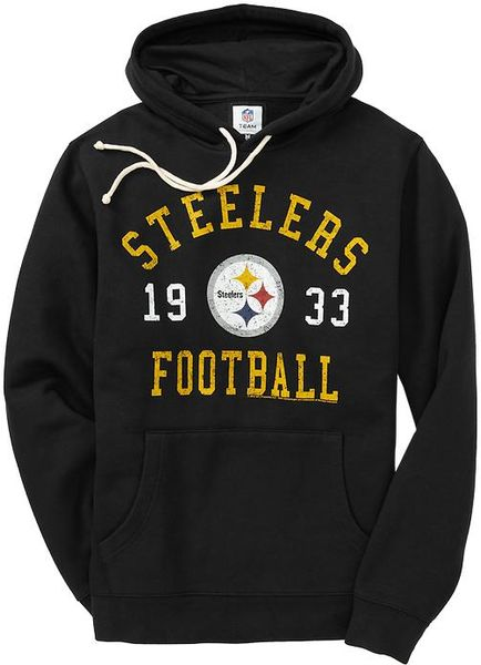 Old Navy  Team Fleece Hoodie in Black for Men (steelers) - Lyst