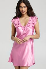 Oscar de la Renta Pink Label Safari Dreams Chemise - Lyst