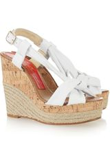 Paloma Barceló Marga Leather Wedge Sandals - Lyst