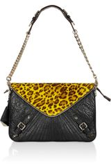 Rebecca Minkoff Maria Calf Hair and Texturedleather Shoulder Bag - Lyst