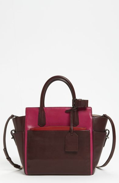 Reed Krakoff Atlantique Mini Leather Satchel in Red (crimson/ multi) - Lyst
