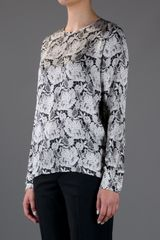Stella Mccartney Floral Print Blouse in Floral - Lyst