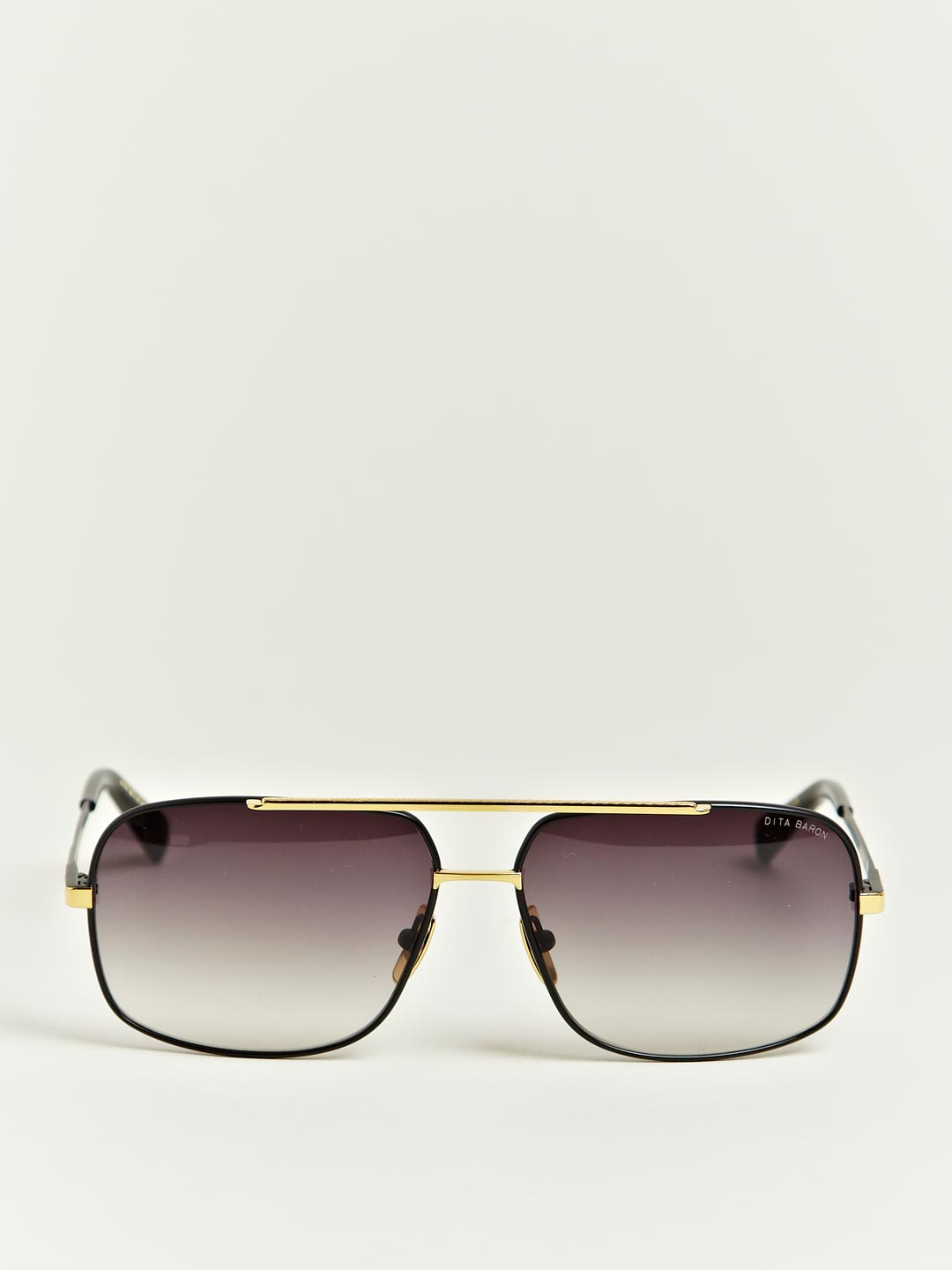 Dita Black Eighteen Carat Gold Frame Sunglasses in Black ...