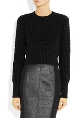 Bottega Veneta Chunky Knit Cashmere Blend Sweater in Black - Lyst