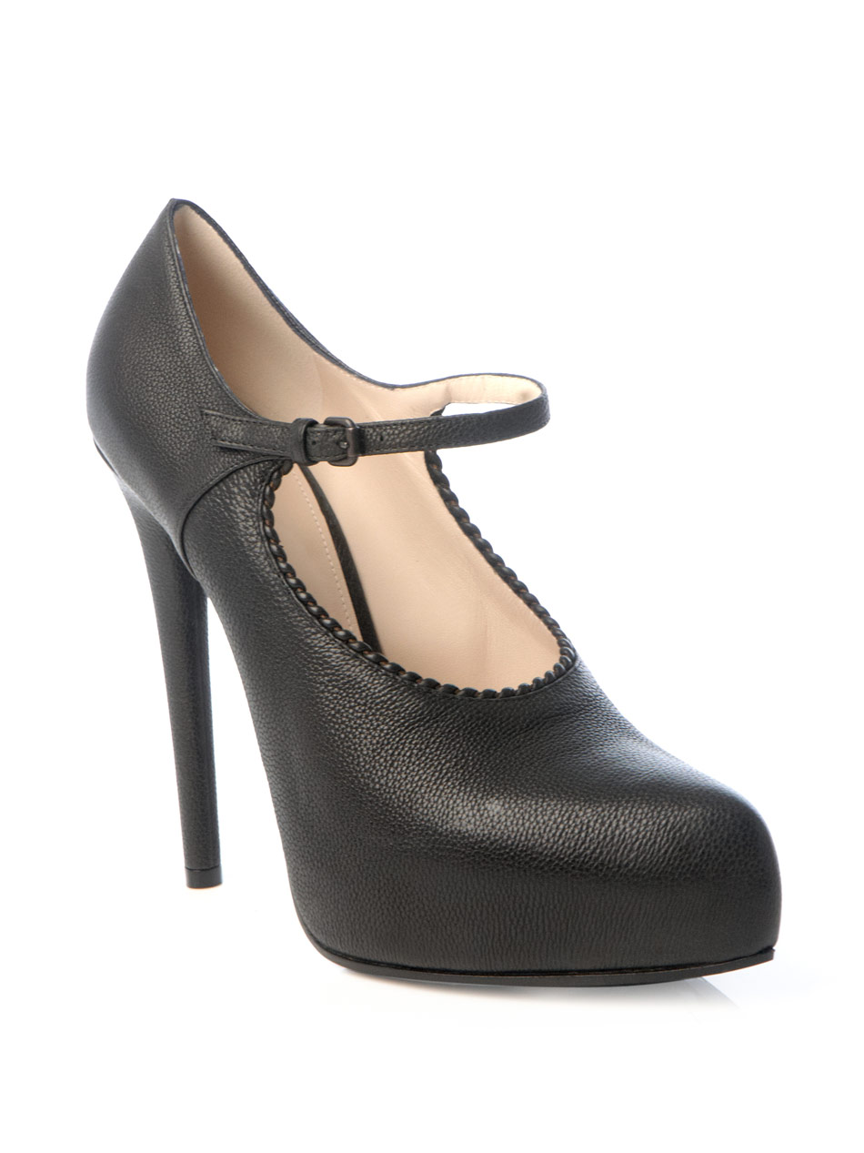 Textured Black Dress Shoes
