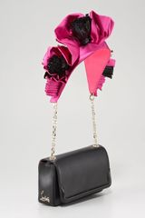 Christian Louboutin Artemis Embellished Shoulder Bag in Black - Lyst