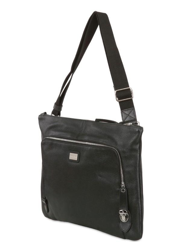 Lyst - Dolce   Gabbana Deer Print Leather Big Shoulder Bag in Black ... 04fc041de10ac
