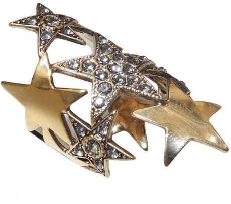 Emilio Pucci Brass Star Ring in Gold - Lyst