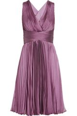 Halston Heritage Pleated Chiffon Dress - Lyst