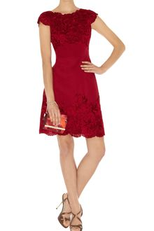 Karen Millen Coloured Lace Beaded Dress - Lyst
