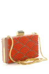 Lanvin Fan Sequin Embellished Box Clutch